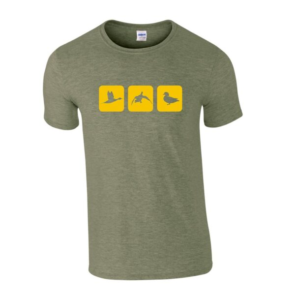 triblock duck t shirt military front