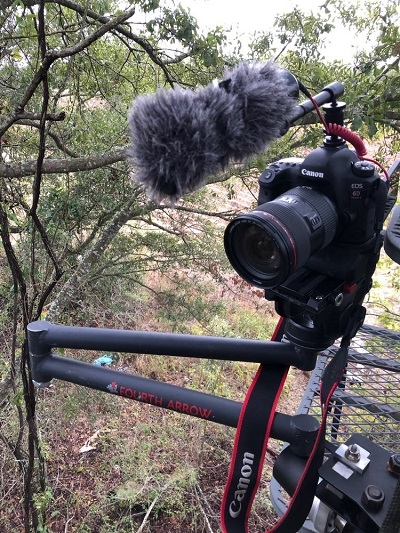 fourth arrow video camera arm for hunting videos