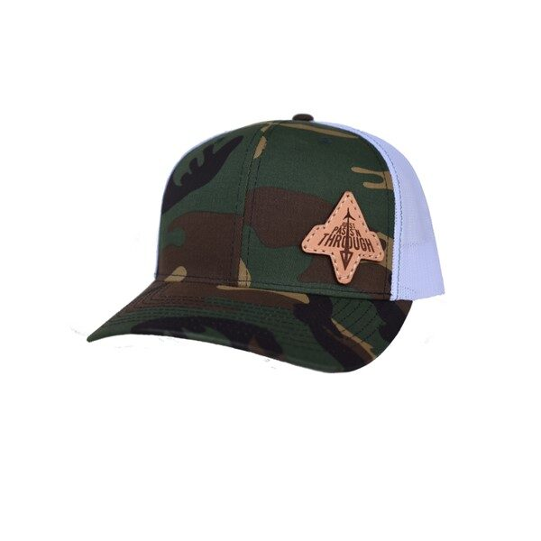 just passn through green camo white leather patch hat richardson 112
