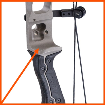 arrow shelf on compound bow