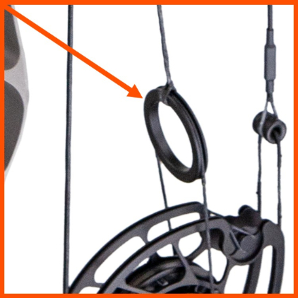 cable splitter on compound bow