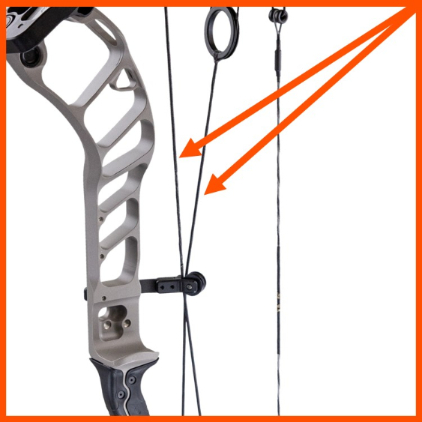cables on compound bow