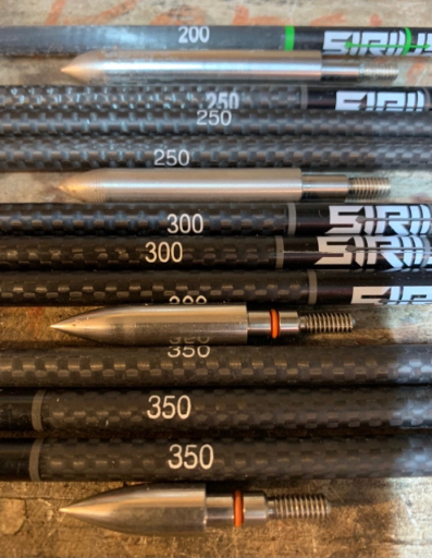 sirius arrow shafts and heavy field points