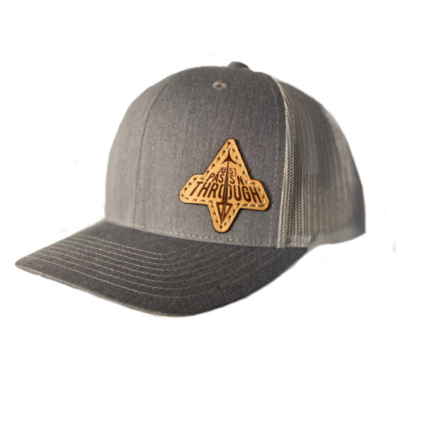 N1 Outdoors just passn through hat grey with grey mesh