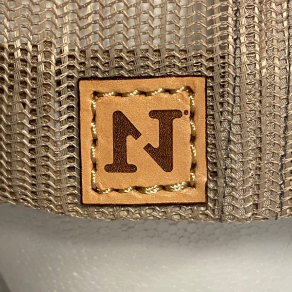 n1 outdoors logo on square leather patch